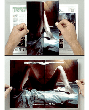 """mechanicmuffin:  feedmyaddictionnow:  kingofwesteros:  Publicity done right in an anti-rape campaign: double-page spread, pages glued to one another. After the reader forcefully separates them, the image above is revealed with the caption """"if you have to use force, it's rape"""".  THIS IS BRILLIANT  I WANT THIS IN EVERY MAGAZINE : Hospita  Aevin  PO WA  v mechanicmuffin:  feedmyaddictionnow:  kingofwesteros:  Publicity done right in an anti-rape campaign: double-page spread, pages glued to one another. After the reader forcefully separates them, the image above is revealed with the caption """"if you have to use force, it's rape"""".  THIS IS BRILLIANT  I WANT THIS IN EVERY MAGAZINE"""