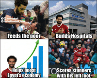 Memes, Boost, and Hospital: HOSPITAL  O TrollFootball  O TheTrollFootball Insta  St  Feeds the DOOrBuilds HoS  Heips boost  Egvut's economy  with his left foot Mohamed Salah - What a man 👏 https://t.co/7og98WujuV