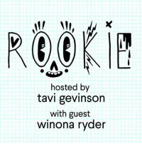 hosted by  tavi gevinson  with guest  winona ryder new @rookiemag Podcast with @tavitulle is live! actress Winona Ryder discusses the books and music that inspired her growing up, as well as her experiences filming HEATHERS. writer @smashfizzle also answers a listener's question. subscribe + listen at rookiepodcast.mtv.com + follow @mtvpodcasts