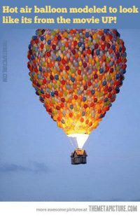 -iceprincess: Hot air balloon modeled to look  like its from the movie UP!  賏  more awesome pictures at THEMETAPICTURE.COM -iceprincess