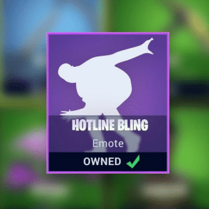 Fortnite players really want a Hotline Bling emote after Drake ...: HOTLINE BLING  Emote  OWNED Fortnite players really want a Hotline Bling emote after Drake ...