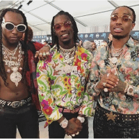 HotShot our favorite threesome! Migos and it looks like TakeOff was feeling himself 👀: HotShot our favorite threesome! Migos and it looks like TakeOff was feeling himself 👀