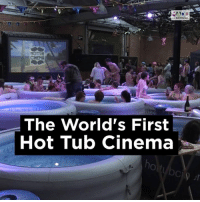 Dank, 🤖, and Jaws: HOTTUB  CINEMA  The World's First  Hot Tub Cinema Imagine watching 'Jaws' here...