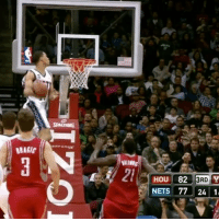Memes, 🤖, and Hops: HOU 82 3RD  y  NETS 77 24 11 Gerald Green's INSANE windmill alley oop slam 😳🔥 Hops