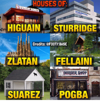 Footballers' real houses 😂🏡 Which house is the best? 👇 IB: @vivere_di_calcio Double Tap and follow me @footy.base for more! 🔥: HOUSES OF  complex  HIGUAIN STURRIDGE  Credits: FOOTy BASE  ZLATAN FELLA INI  SUAREZ POGBA Footballers' real houses 😂🏡 Which house is the best? 👇 IB: @vivere_di_calcio Double Tap and follow me @footy.base for more! 🔥