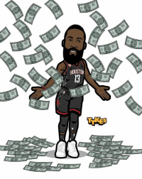 "James Harden ""MEGA Rich"" Tyke. The Houston Rockets and James Harden have agreed to a four-year contract extension that is a supermax deal worth a reported $228 million! With new this new deal, he is now guaranteed to make a total of approximately $550 million from the NBA and adidas. 😱 JamesHarden Rockets MyTyke: HOUSTON  0 James Harden ""MEGA Rich"" Tyke. The Houston Rockets and James Harden have agreed to a four-year contract extension that is a supermax deal worth a reported $228 million! With new this new deal, he is now guaranteed to make a total of approximately $550 million from the NBA and adidas. 😱 JamesHarden Rockets MyTyke"