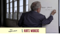 "Memes, 🤖, and Working: How  1. HURTS WORKERS  Right to Work  Work LAWS  state w rhov ryhr As Republicans try to pass a national ""right-to-work"" law, Robert Reich breaks down why it's bad for working families."