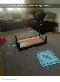 How a standard game of Monopoly ends  Source tastefullyoffens...