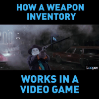 Inventory Meme: HOW A WEAPON  INVENTORY  Looper  WORKS IN A  VIDEO GAME