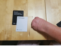 My girlfriend just won Cards Against Humanity after Xmas dinner.: How am I  maintaining my  relationship status?  A sad handjob.  Cards Again  Cards Against Humanity My girlfriend just won Cards Against Humanity after Xmas dinner.