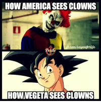 HOW AMERICA SEES CLOWNS  HOWVEGETASEES CLOWNS