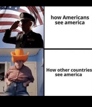 America, Guess, and How: how Americans  see america  How other countries  see america  T. I guess so!?!