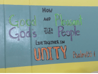 God, Good, and Live: How  AND  TIIs C  WHEN  LIVE TOGETHER IN  UNITY aulto