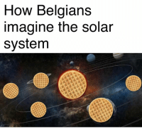 Memes, 🤖, and Solar: How Belgians  Imagine the Solar  system