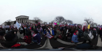 Memes, 🤖, and The National: How big was the Women's March on Washington? Take a 360-degree look at the crowds on the National Mall.