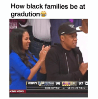 @hardcorecomedy2.0 has one of the best meme pages on Instagram: How black families be at  gradution  BE'S  WELL  SLAL 97  KOBE BRYANT  LAL  58 PTS, 22-50 FG  KING NEWS @hardcorecomedy2.0 has one of the best meme pages on Instagram