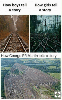 Girls, Martin, and George RR Martin: How boys tell  a story  How girls tell  a story  How George RR Martin tells a story