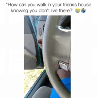 """Friends, Memes, and House: """"How can you walk in your friends house  knowing you don't live there?"""" Here's a prime example"""