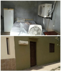 9gag, Memes, and Summer: How clever people install air-con. Follow @9gag to laugh more. 9gag hot brazil summer