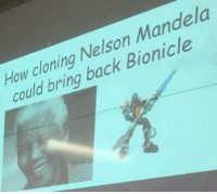 Nelson Mandela, Dank Memes, and Bionicle: How cloning Nelson Mandela  could bring back Bionicle
