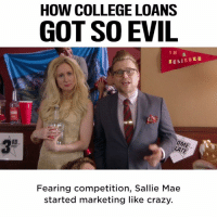 Bad, College, and Crazy: HOW COLLEGE LOANS  GOT SO EVIL  BELIEBER  DANS  RD  Fearing competition, Sallie Mae  started marketing like crazy. Student loans are leaving millions of Americans with really bad hangovers.  Adam Ruins Everything is back with all new episodes on 11/27 on truTV #AdamRuins