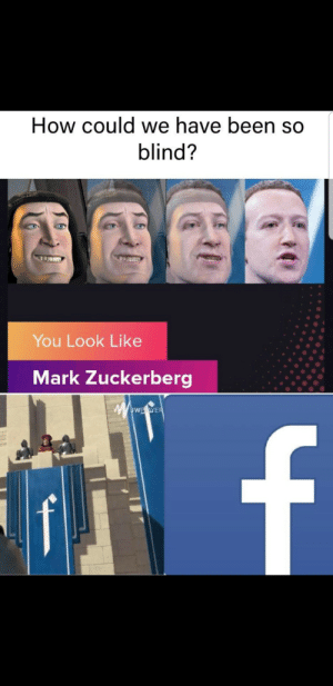 Coincidence, I think not: How could we have been so  blind?  You Look Like  Mark Zuckerberg  wwwE.eWER  f Coincidence, I think not