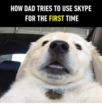 9gag, Dad, and Dank: HOW DAD TRIES TO USE SKYPE  FOR THE FIRST TIME Hi dad, you look handsome.  https://9gag.com/gag/aB8xndD/sc/funny?ref=fbsc