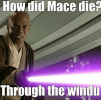 Star Wars, How, and How Did: How did Mace dien  Through the Windu