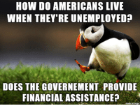 Live, French, and How: HOW DO AMERICANS LIVE  WHEN THEY RE UNEMPLOYED?  DOES THE GOVERNEMENT PROVIDE  FINANCIAL ASSISTANCE?  on imqu Im French and I have a question about the USA
