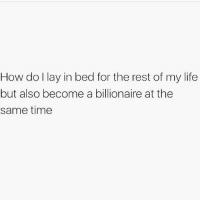 Gym, Life, and Time: How do I lay in bed for the rest of my life  but also become a billionaire at the  same time My current dilemma. 🤔🤣