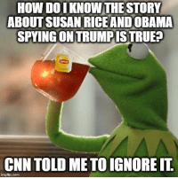 ~ Ginger: How DO KNOW THE STORY  ABOUT SUSAN RICE AND OBAMA  SPYINGONTRUMPISTRUE?  CNN TOLDME TO IGNOREIT  imgfip.com ~ Ginger