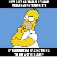 Memes, Politics, and Army: HOW DOES CRITICISM OF ISLAM  CREATE MORE TERRORISTS  IFTERRORISM HAS NOTHING  TO DO WITH ISLAM? ----------------- Proud Partners 🗽🇺🇸: ★ @conservative.american 🇺🇸 ★ @raised_right_ 🇺🇸 ★ @conservativemovement 🇺🇸 ★ @millennial_republicans🇺🇸 ★ @keepamerica.us 🇺🇸 ★ @the.conservative.patriot 🇺🇸 ★ @conservative.female 🇺🇸 ★ @brunetteandpolitical 🇺🇸 ★ @emmarcapps 🇺🇸 ----------------- bluelivesmatter backtheblue whitehouse politics lawandorder conservative patriot republican goverment capitalism usa ronaldreagan trump merica presidenttrump makeamericagreatagain trumptrain trumppence2016 americafirst immigration maga army navy marines airforce coastguard military armedforces ----------------- The Conservative Nation does not own any of the pictures or memes posted. We try our best to give credit to the picture's rightful owner.