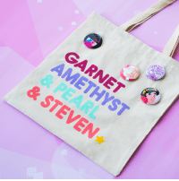 Memes, Comic Con, and Free: How  e you  wan  REEL  GARNET  REAL  ELIE  & STEVE Headed to San Diego Comic-Con this year? Stop by our CrystalGems booth (3735) for an epic 3-D Photobooth and FREE GIVEAWAYS including this amazing tote and StevenUniverse pins! 🌟📸 (Totes are limited, while supplies last. Pins Thurs-Sun) CNatSDCC SDCC2018 SDCC ComicCon2018 ComicCon