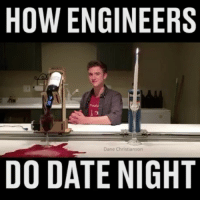 The Datebot 1000 is changing the dating game 😆 (@the_x_cube): HOW ENGINEERS  Dane Christianson  DO DATE NIGHT The Datebot 1000 is changing the dating game 😆 (@the_x_cube)