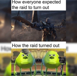 All the hype for nothing: How everyone expected  the raid to turn out  How the raid turned out All the hype for nothing