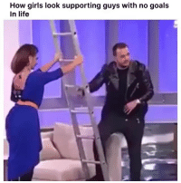 Funny, Girls, and Goals: How girls look supporting guys with no goals  In life Lmao im weak😂💀