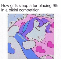 Girls, Memes, and Bikini: How girls sleep after placing 9th  in a bikini competition 🙄