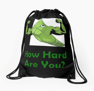 """Metapod Used Harden"""" Drawstring Bags by shyturtle 