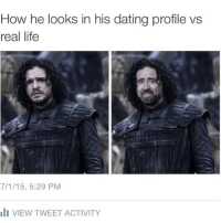 Dating site vs Real Life