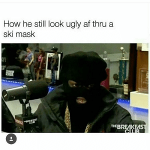 Af, Target, and Tumblr: How he still look ugly af thru a  ski mask  THEBREAKEA everydayfixxx:  😂😂😂