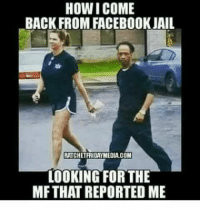 Dark Lady: HOW I COME  BACK FROM FACEBOOK JAIL  RATCHETRIDAYMEDIA COM  LOOKING FOR THE  MF THAT REPORTED ME Dark Lady