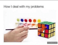 How I deal with my problems  VIA DAMNLOL. COM Some Call It Cheating. I Call It Resourceful http://www.damnlol.com/some-call-it-cheating-i-call-it-resourceful-117842.html