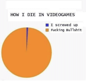 True: HOW I DIE IN VIDEOGAMES  I Screwed up  Fucking Bullshit True