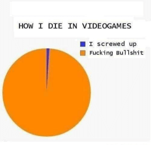 Accuracy.: HOW I DIE IN VIDEOGAMES  I screwed up  Fucking Bullshit Accuracy.