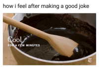 """Memes, Cool, and Good: how i feel after making a good joke  Cool  FOR A FEW MINUTES <p>Pretty much via /r/memes <a href=""""http://ift.tt/2FcdMK9"""">http://ift.tt/2FcdMK9</a></p>"""