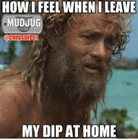 Memes, Home, and 🤖: HOW I FEEL WHEN ILEAVE  MUDJUG  portable spittoons  @CHRISTI PS1  MY DIP AT HOME Wilson!!!!!