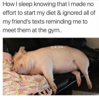(@_taxo_): How I sleep knowing that I made no  effort to start my diet & ignored all of  my friend's texts reminding me to  meet them at the gym  G @ Taxo (@_taxo_)