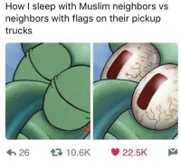 Memes, Muslim, and Neighbors: How I sleep with Muslim neighbors vs  neighbors with flags on their pickup  trucks  22.5K  26  10.6K you know you in some hick territory when you start seeing too many flags