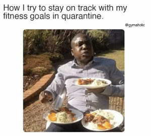 How I try to stack on track with my fitness goals in quarantine.  Gymaholic App: https://www.gymaholic.co  #fitness #motivation #workout #meme #gymaholic: How I try to stack on track with my fitness goals in quarantine.  Gymaholic App: https://www.gymaholic.co  #fitness #motivation #workout #meme #gymaholic
