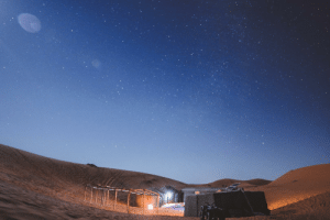 Mars, The Middle, and Morocco: How I'd imagine a campsite on Mars would look like (this is a photo I took from my camp in the Sahara Desert, Morocco in the middle of the night)